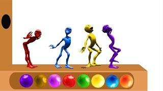 Pelajari warna dengan Alien Dance | Belajar warna bahasa inggris | Tokek