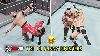WWE 2K19 Top 10 Funny Finishers Swapping! Part 2