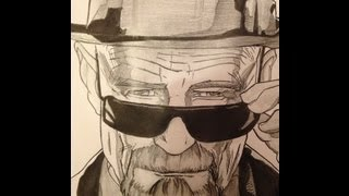 Heisenberg (Breaking Bad) Time Lapse Drawing