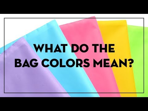 What do the different bag colors mean?