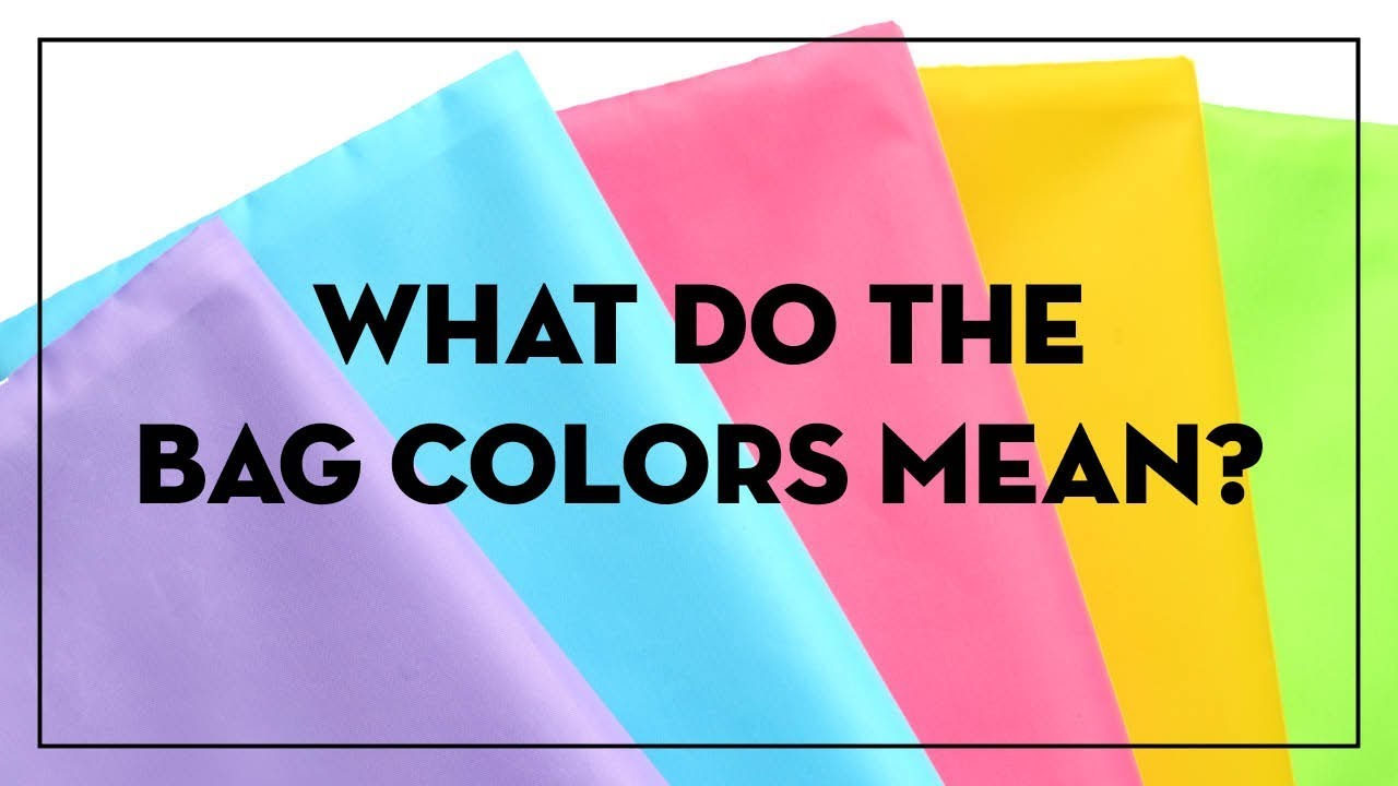 what do the different bag colors mean youtube. Black Bedroom Furniture Sets. Home Design Ideas