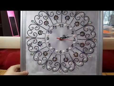 Алмазная вышивка Часы с Алиэкспресс. Мандала из спецстраз. Готовые работы.