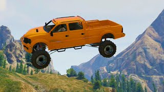 Flying Monster Truck Race (GTA 5 Funny Moments)