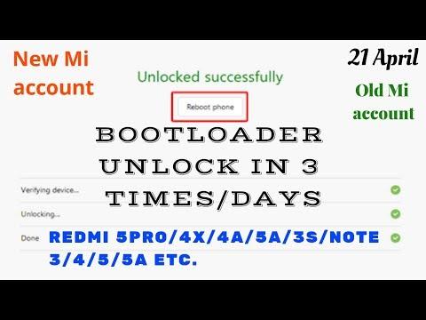 Cách Unlock bootloader trong 3 lần - Redmi note 5/5 pro/3/4, 4X/5A