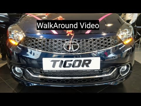 New Tata Tigor Egyptian Blue XZ+ Variant Walkaround Video With Music
