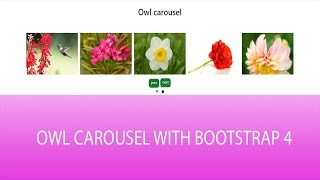 How to customize owl carousel slider navigation 2018 with Bootstrap
