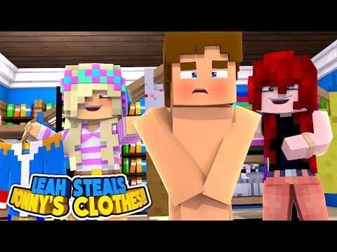Minecraft LEAH STEALS DONNY CLOTHES IN THE MALL || Little Donny Roleplay