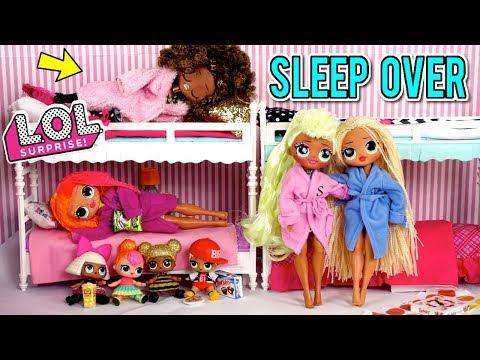 LOL Doll Family Slumber Party With LOL OMG Dolls - Secret Crush Revealed!