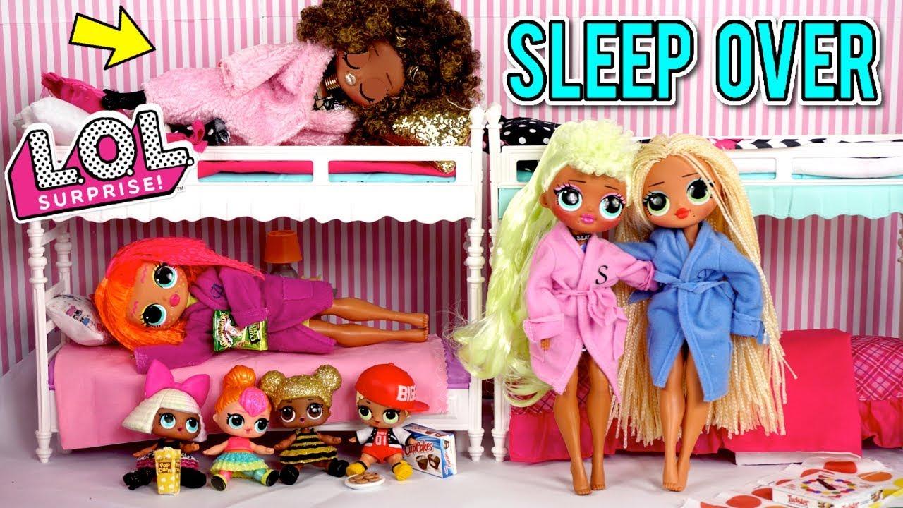 Lol Doll Family Slumber Party With Lol Omg Dolls Secret Crush Revealed Youtube