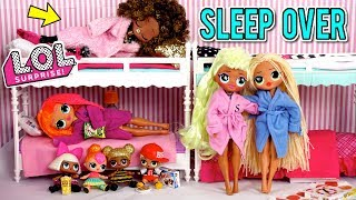 LOL Doll Family Slumber Party with LOL OMG Dolls - Secret Crush Revealed!