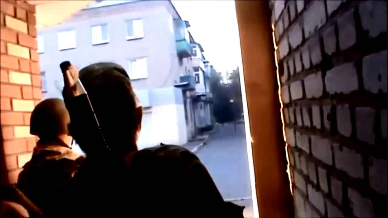 Ополченец Моторола, Видео реального боя отряда. Real shooting fight Ukraine vs Novorussia SWAT