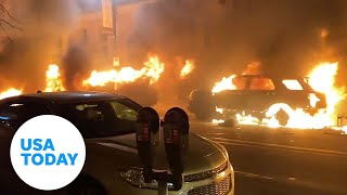 Peaceful George Floyd protests marred by bursts of violence | USA TODAY