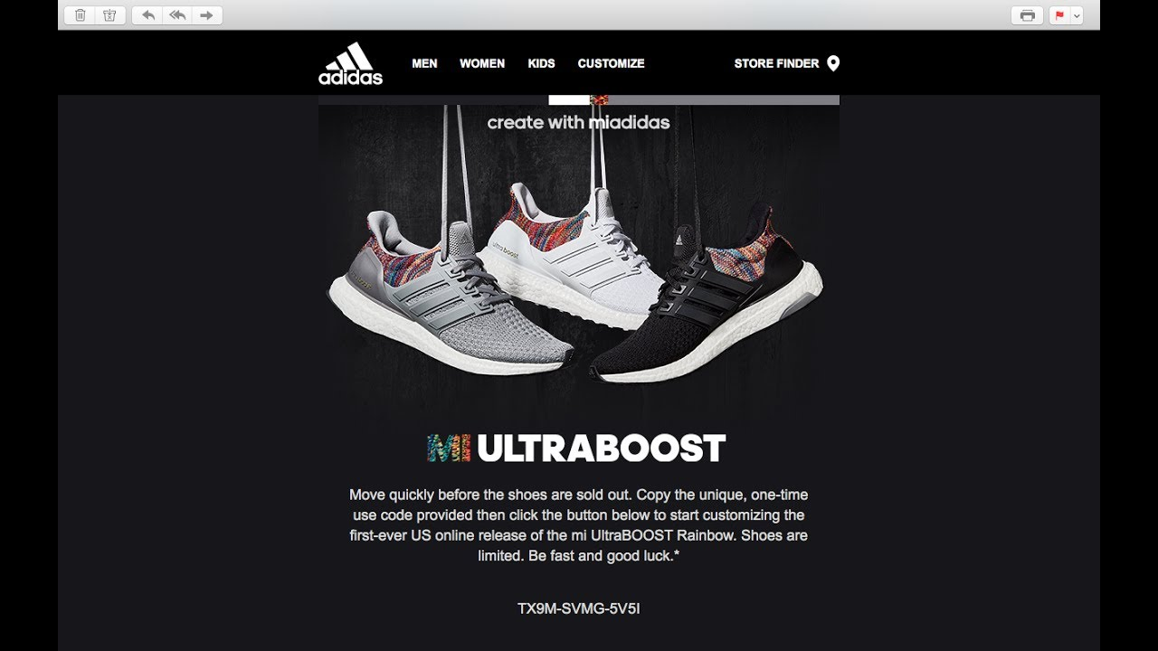 adidas boost advertisement
