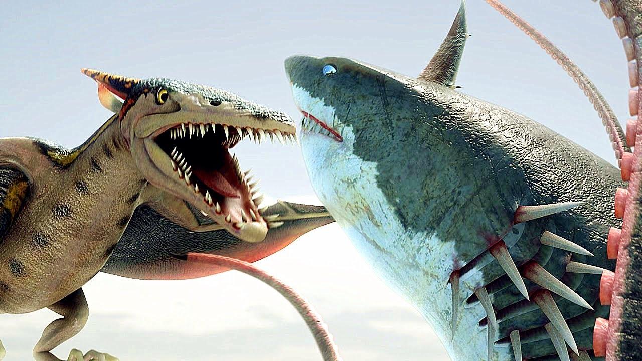【吐嚎】八爪狂鯊大戰梭魚翼龍,光聽名字就目瞪口呆的特效大片!