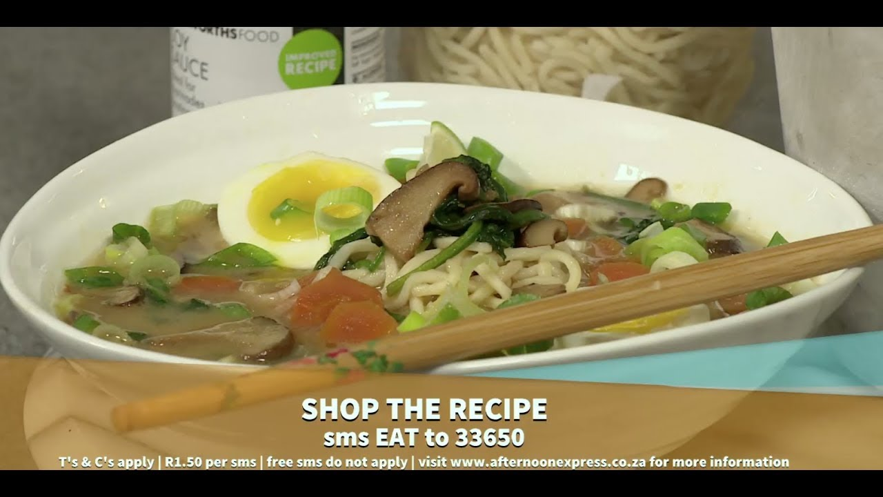 Woolworths Ginger Miso ramen bowl | Afternoon Express | 29 April 2019