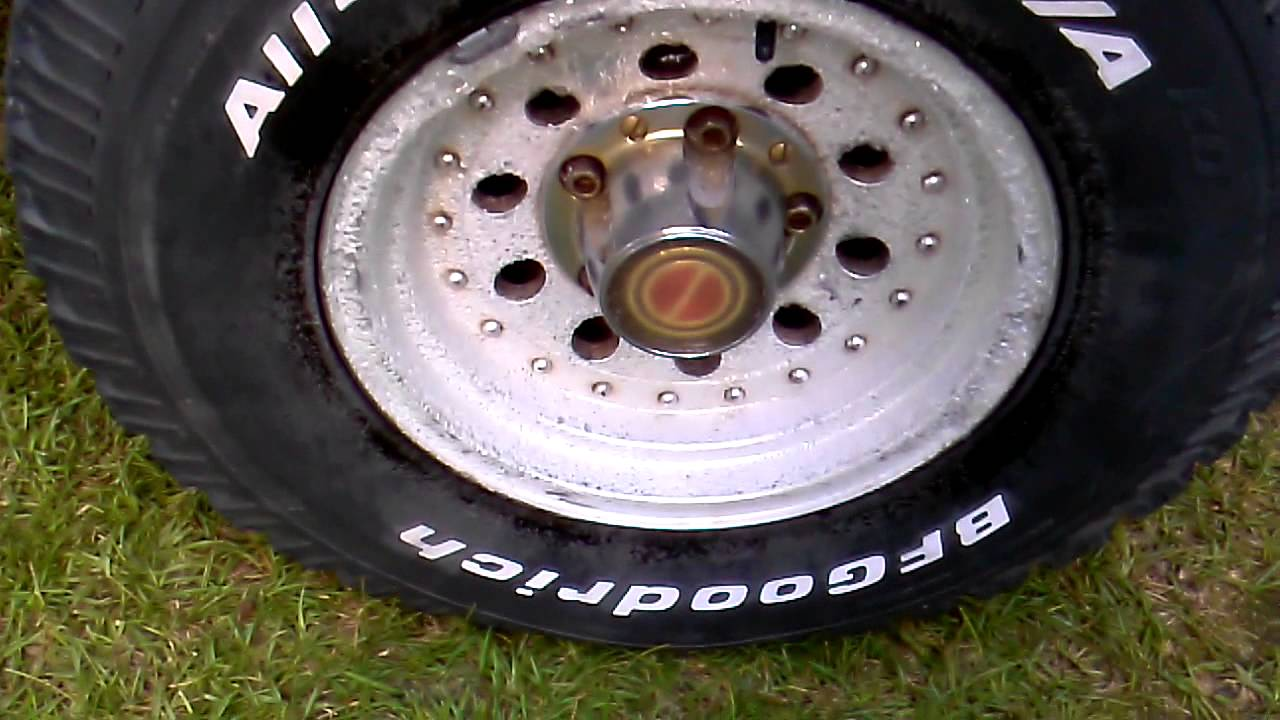 Ford F150 Rims >> 1991 Ford F-150 stripping the finish off the rims - YouTube