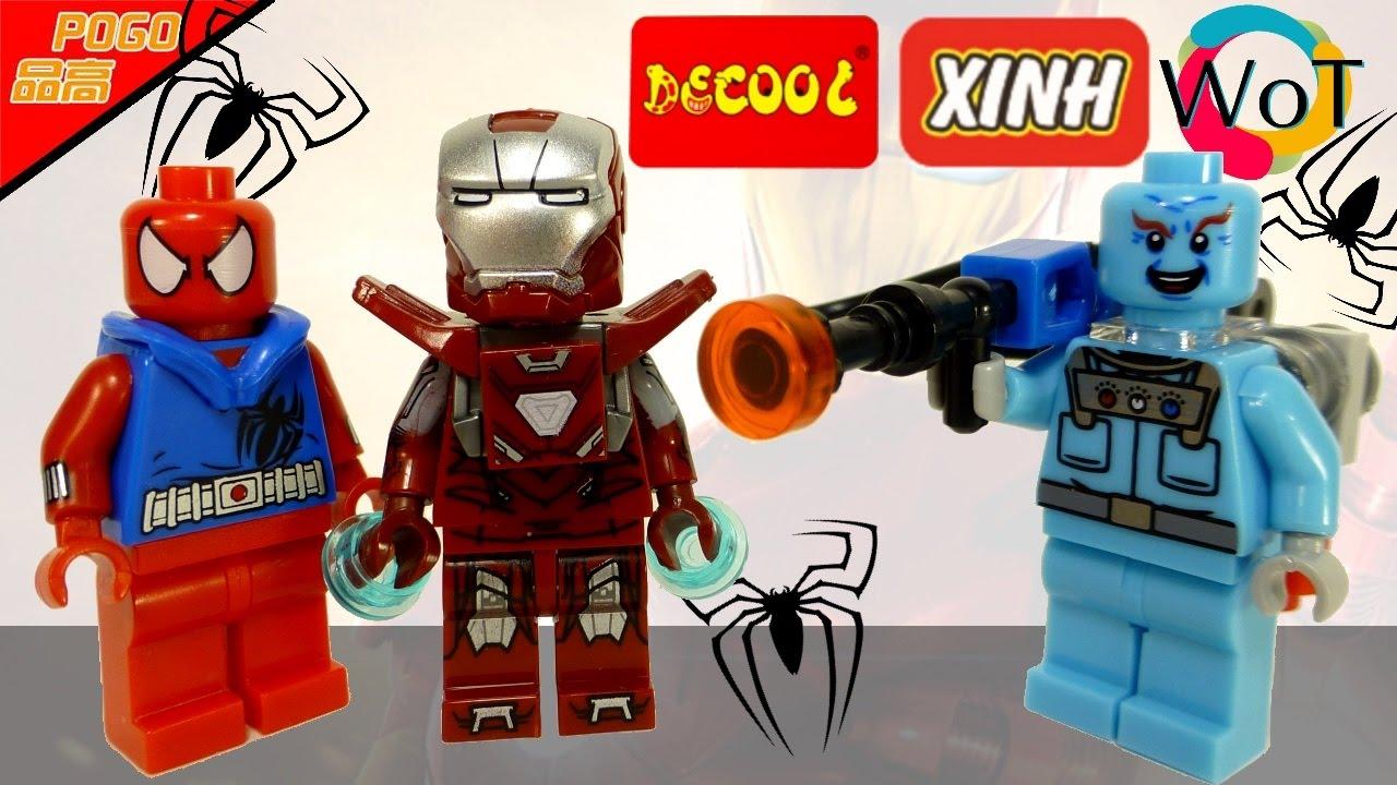 Китайские Лего Супергерои: Алый Человек Паук, Железный ...