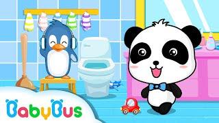 トイレじょうずにできるかな? トイレトレーニング   お世話ごっこ   赤ちゃんが喜ぶアニメ   動画   BabyBus