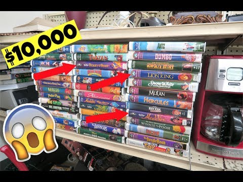 TRIP TO THE THRIFT #13- I FOUND $10,000 WORTH OF DISNEY CLASSIC VHS!