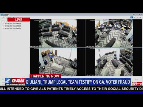 Video from GA shows suitcases filled with ballots pulled from under a table AFTER poll workers left