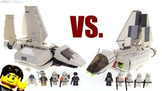 LEGO Star Wars Imperial Landing Craft compared! 2018 vs. 2007