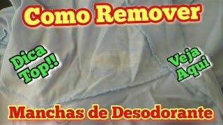 ADEUS MANCHAS DE DESODORANTE DAS ROUPAS BRANCAS