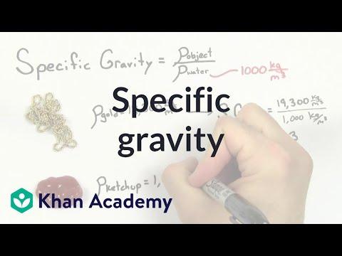 Specific gravity | Fluids | Physics | Khan Academy