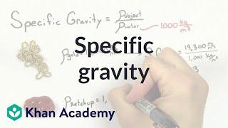 Specific gravity | Fluids | Physics | Khan Academy thumbnail