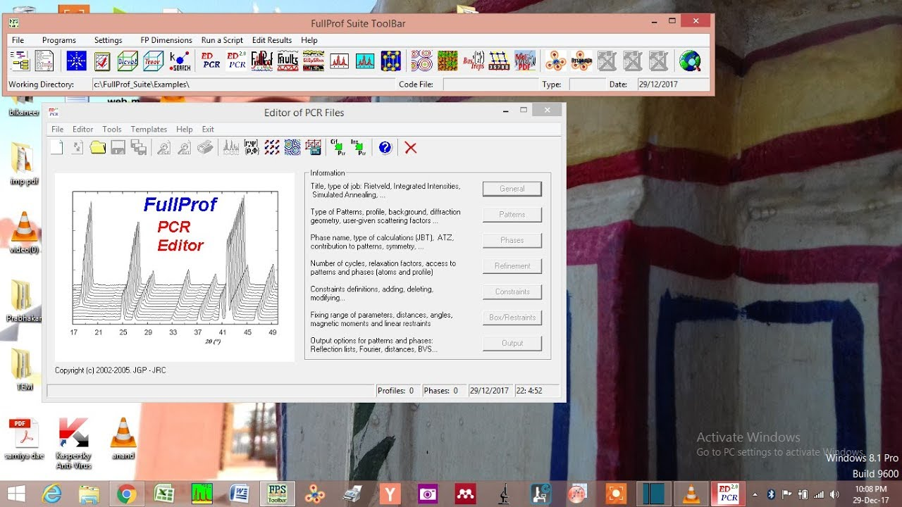 Rietveld Refinement PART 1 (how to create data file and PCR file)