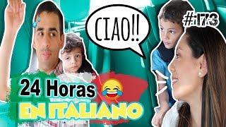 24 HORAS intentando hablar EN ITALIANO A MI FAMILIA! + Lorenzo reía de mi 😅 MEXICANA EN LONDRES