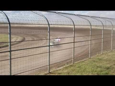 9-15-18 Junction Motor Speedway IMCA Stock Car heat  Kyle Dumpert