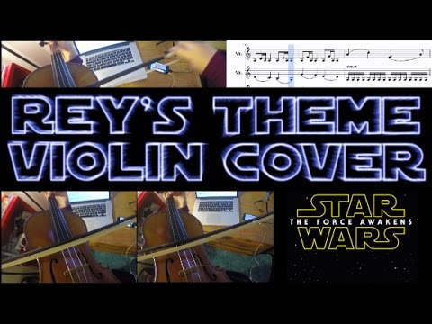 Star Wars: The Force Awakens - Rey's Theme (Violin Cover with Sheet Music)