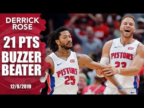 Download Derrick Rose hits game-winning buzzer-beater for Pistons vs. Pelicans | 2019-20 NBA Highlights Mp4 baru