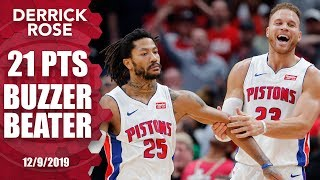 Derrick Rose hits game-winning buzzer-beater for Pistons vs. Pelicans | 2019-20 NBA Highlights