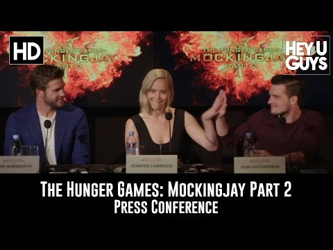 The Hunger Games Mockingjay Part 2 Press Conference - Jennifer Lawrence, Hutcherson, Hemsworth