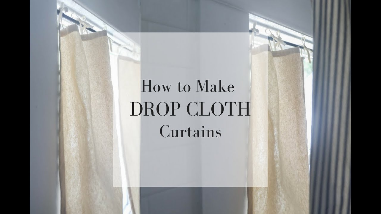 how to make drop cloth curtains youtube. Black Bedroom Furniture Sets. Home Design Ideas