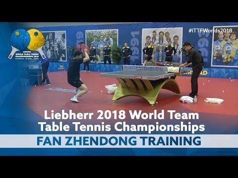 Fan Zhendong Multi Ball Training | World Team Championships 2018