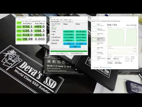 คลิป - ผลทดสอบ ความเร็ว Deva's SSD รุ่น E480e - 480 GB / รีวิว - Review Speed and Benchmark