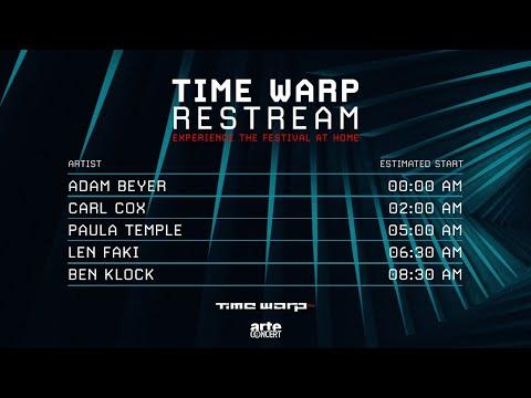 TIME WARP Restream w/ Adam Beyer, Carl Cox, Paula Temple, Len Faki, Ben Klock – ARTE Concert