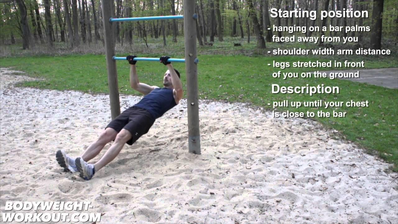 inclined pull ups bodyweight exercise madbarz exercises - YouTube