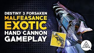 Destiny 2 | MALFEASANCE Exotic Hand Cannon First Look Gameplay