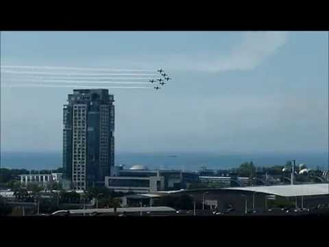 Toronto Air show, from downtown Rooftop Pool