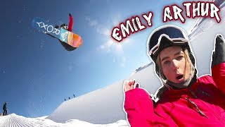SNOWBOARDING WITH EMILY ARTHUR!