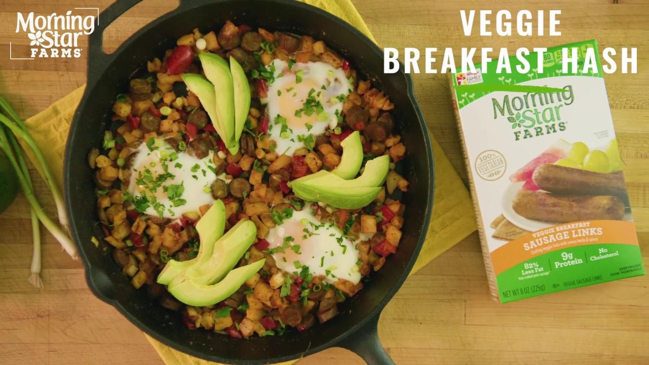 Morningstar Farms Loaded Breakfast Hash Recipe Youtube