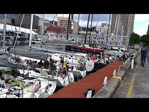 2017 Melbourne to Hobart Westcoaster ocean yacht race - arrivals in Hobart