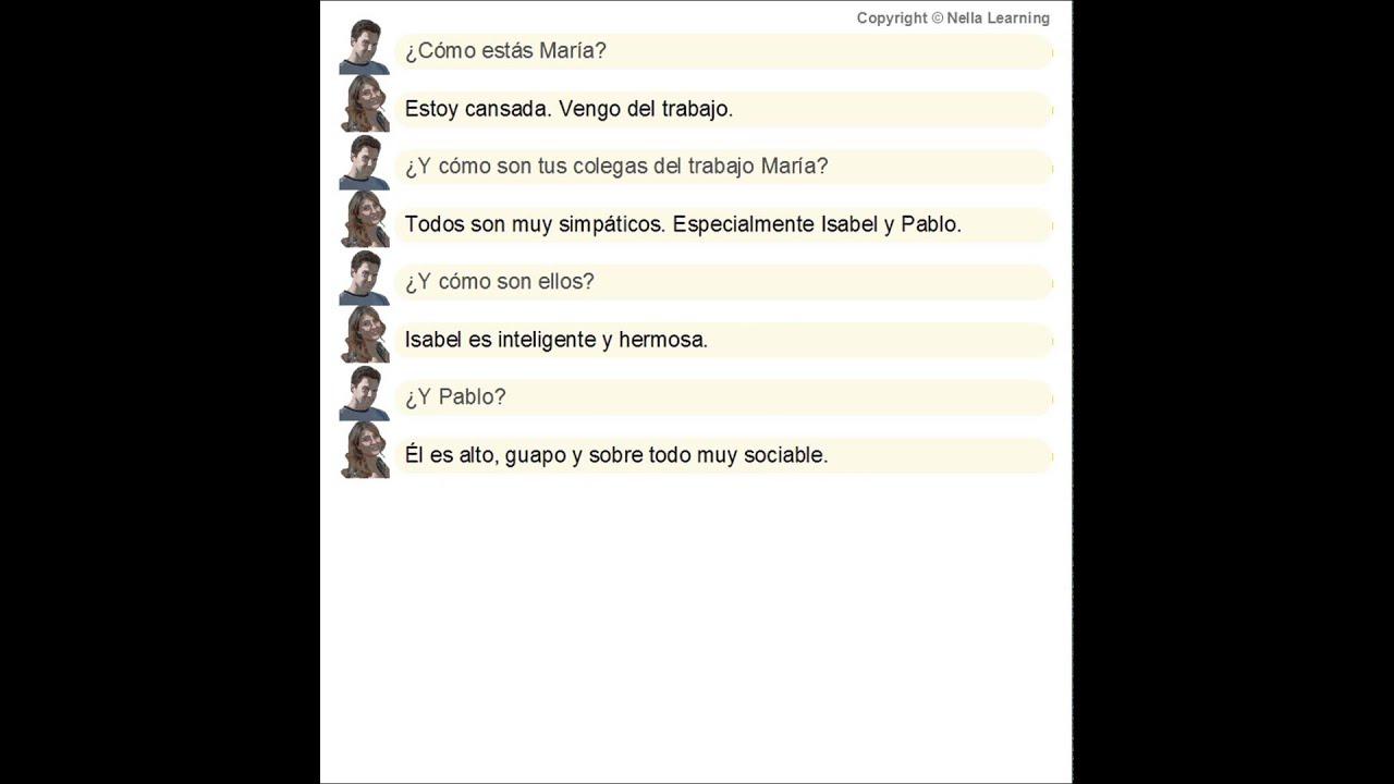 Exceptionnel Espagnol facile Dialogues en espagnol pour d+®but9 - YouTube YF84