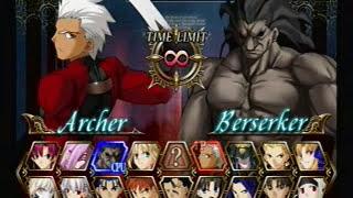 Fate Unlimited Codes - Archer VS Berserker