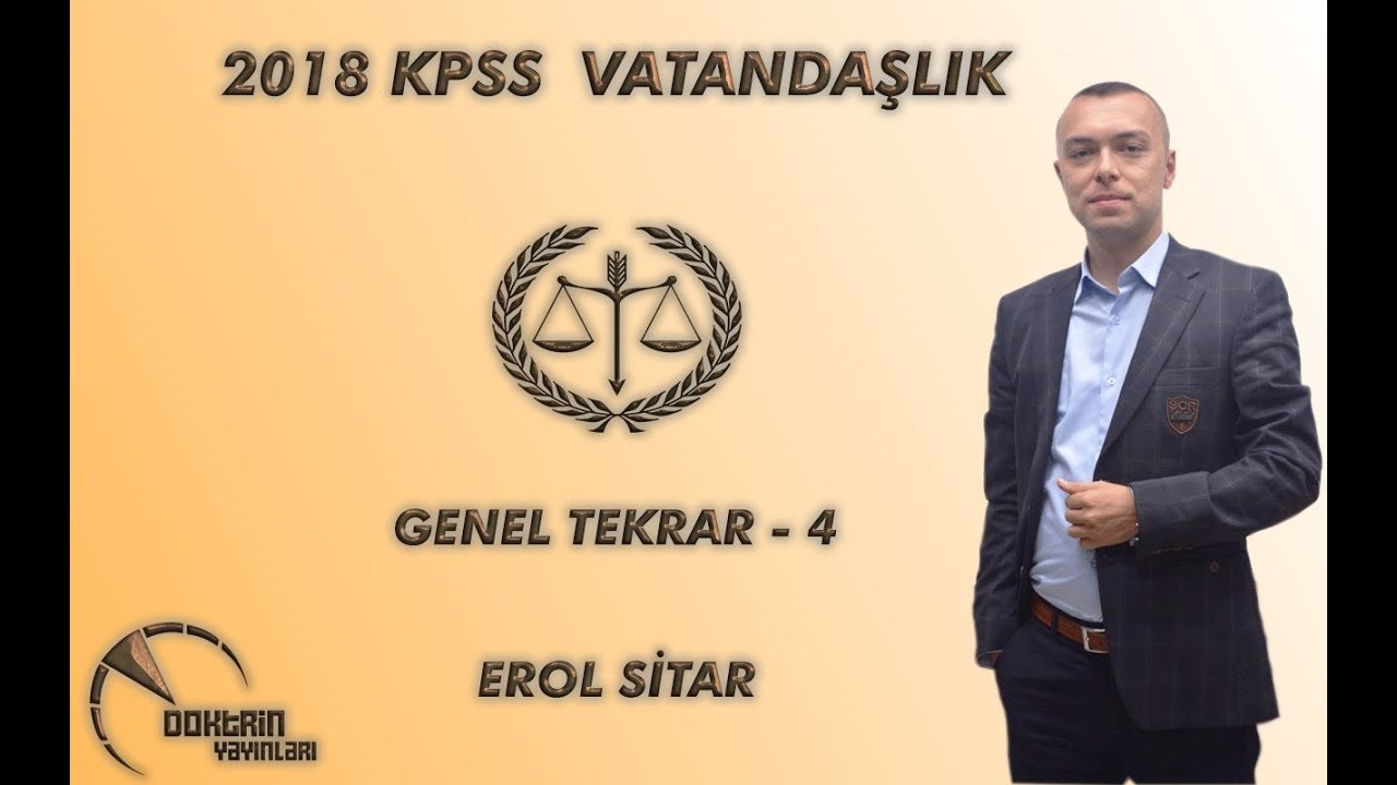 KPSS VATANDAŞLIK GENEL TEKRAR - 4 / EROL SİTAR