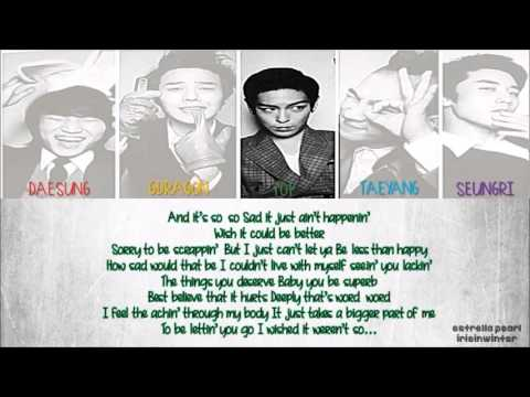 BIG BANG { 빅뱅 }  TELL ME GOODE LYRICS  ROM  ENG