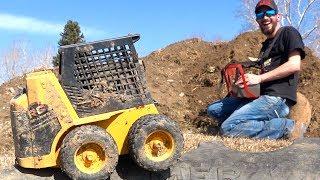 DREAM MACHiNE! 1:1 Diesel CAT Skid Steer (RC) builds Jump & Traxxas X-Maxx is HIGH! | RC ADVENTURES